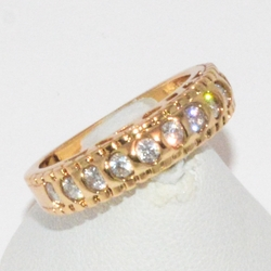 1-3074-e1 Gold Plated CZ Ring