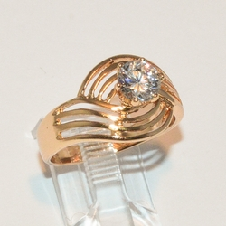 1-3079-e2 Waves CZ Ring