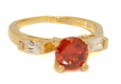 1-3088-D2 Red CZ Solitaire Ring