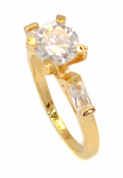 1-3088-D3 CZ Solitaire Ring