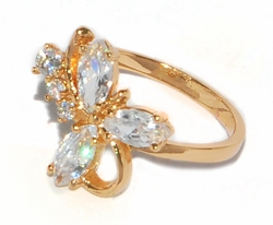 1-3091-D1-WHT Cubic Zircoia Ring