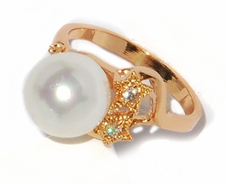 1-3108-D1 Rose Gold Pearl Ring