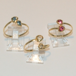 1-3121-e4 Heart Toe Rings