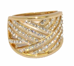 1-3135-D1 Ladies Crystal Studded Ring