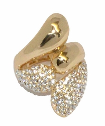 1-3144-D1 Ladies Crystal Studded Ring