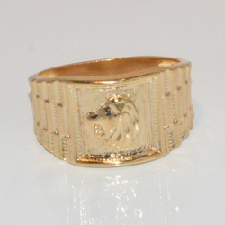 1-3153-e2 Man Lion Ring