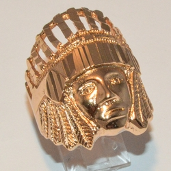 1-3165-e2 Chief Indian Head Ring