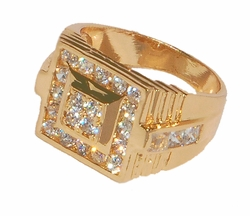 1-3169-D1 Men Cubic Zirconia Ring