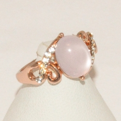 1-3172-e1 Ladies Rose Gold Plated Ring
