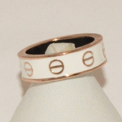 1-3172-e2 Ladies Rose Gold Plated Ring