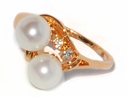 1-3174-1-D1 Rose Gold Pearl Ring