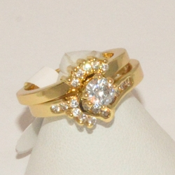 1-3184-e13 Ladies CZ Wedding Ring