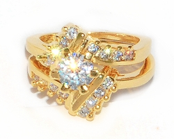 1-3184-D1 Ladies Engagement Ring Set