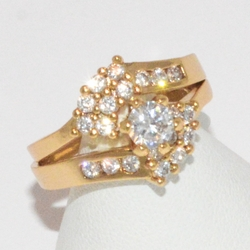 1-3184-e1 Gold Plated CZ Wedding Ring
