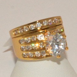 1-3190-e1 Ladies CZ Wedding Ring