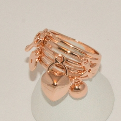 1-3193-e2 Rose Gold Plated Ring