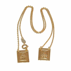 "1-3308-e12 Gold Filled Scapular, 18"" length, 16mm pieces,"