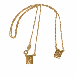 "1-3335-e12 Gold Filled Scapular, 24"" length, 8x12mm pieces,"