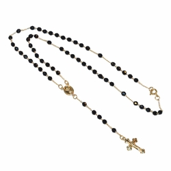"1-3340-e12 Gold Plated 18"" Rosary necklace."