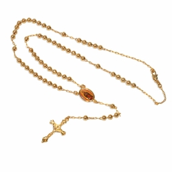 """1-3369-e9 Guadalupe Rosary Necklace. 24"""" length. 5mm beads, 1.5"""" cross."""