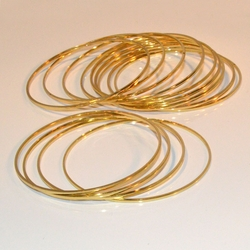 1-4008-e11 Gold Layered Classic 1.5mm Half Round Bangles. Sold by Dozen 1.5mm