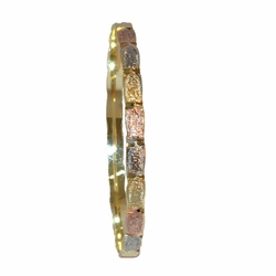 1-4046-f1 Gold Layered, Three Tone, Guadalupe, Bangle, 6mm wide,