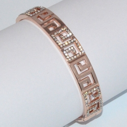 1-4061-D1 Rose *Gold Plated Bangle - Greek design
