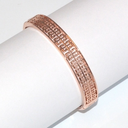 1-4090-D1 Rose *Gold Plated Bangle - Butterfly Design