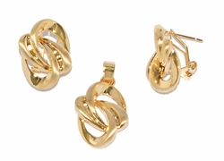 1-6011-D1 Earring and pendant Set