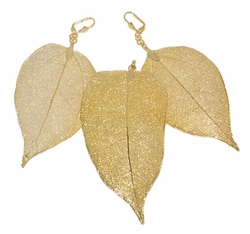 1-6014-D1 Large Leaf Earring and Pendant Set