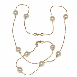 1-6170-D1 Pearl Necklace and Bracelet Set