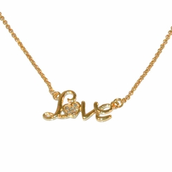 1-6183-e12 Gold Plated Love Necklace.