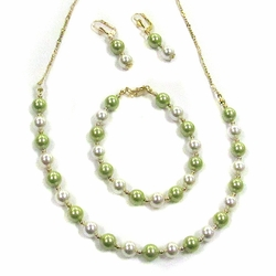 1-6204-D1 Three Piece Pearl Beaded Set