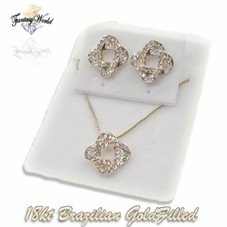1-6255-C1 Earring Necklace and Pendant Set