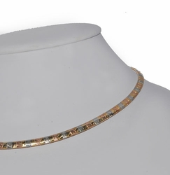 "1-6301-D1 Two Tone 16"" Omega Necklace"