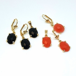 1-6331-f5 Gold Layered Faceted Stone Set