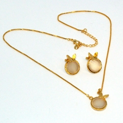 1-6344-D1 Ladies Necklace and Earrings Set