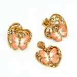 1-6359-D1 Earrings and Pendant Set (3 Colors Available)
