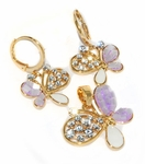 1-6365-D1-PRP Purple Butterfly with Crystals Set