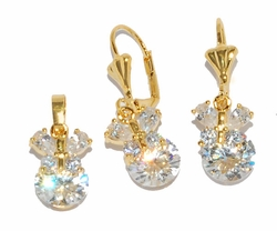 1-6461-D1 CZ Butterfly Set (3 color available)
