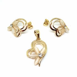 1-6462-f5 Gold Layered Heart Set