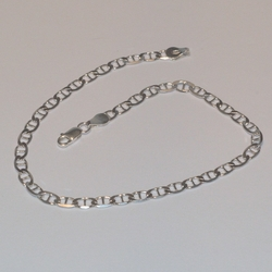 "2-0113-e5 Sterling Marine link anklet 10"", 4mm"