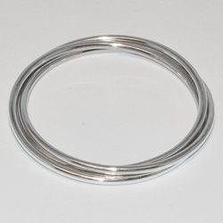 2-0685-e2 Sterling Triple Braided Bangle (choose size)