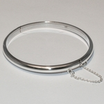 2-0690-e2 Sterling Bagle with Side lock and chain