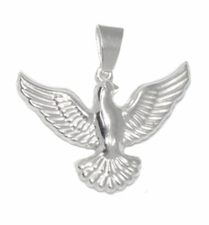 2-1167-D1 Sterling Silver Eagle Pendant