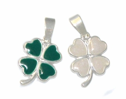 2-1189-D1 Steling Silver Clover Charm