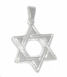 2-1311-D1 Sterling Silver Star of David Pendant