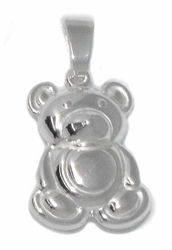 2-1363-D1 Sterling Silver Bear Charm