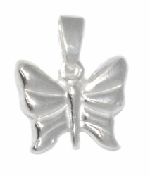 2-1418-D1 Sterling Silver Butterfly Charm