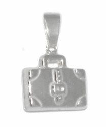 2-1865-D1 Sterling Silver Briefcase Charm